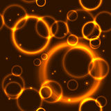 Gold bubble seamless  background Royalty Free Stock Images