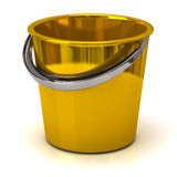 Gold bucket Stock Photography