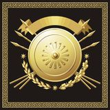 Gold buckler Royalty Free Stock Photo