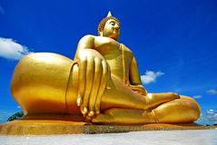 Gold Buddha. And Large Buddha in Thailand Stock Image