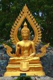 Gold buddha. At small mountain, Thailand Stock Photos