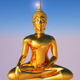 Gold Buddha royalty free illustration