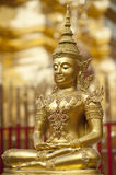 Gold Buddha. Golden Buddha figure Wat Phra Doi Tung Chiang Mai Thailand Royalty Free Stock Photo
