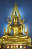 Gold buddha. An impressive buddha image in a temple in thailand royalty free stock images