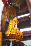 Gold Buddha. Golden Buddha in a Chinese Temple Stock Photo