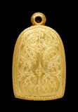 Gold Buddha amulet locket Royalty Free Stock Photos