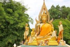 Gold Buddha as horizontal Stock Photos