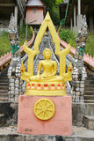 Gold buddha with aura front view Stock Photography