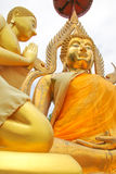 Gold Buddha be enshrined Royalty Free Stock Image