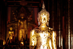 Gold Buddha ,Chiang mai  Thailand Stock Photos