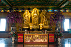 Gold Buddha , chinese temple ,thailand Stock Photos