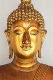 Gold Buddha. Dectail from gold buddha, Thailand Royalty Free Stock Photo