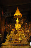 Gold Buddha Grand Hall Thailand Stock Photo