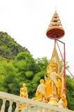 Gold Buddha with high hairdo Royalty Free Stock Photos