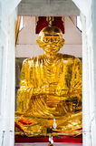 Gold buddha image. In thailand Royalty Free Stock Photography