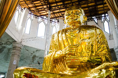 Gold buddha image. In thailand Stock Photography