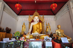 gold buddha image in thailand Stock Images