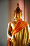 gold buddha image in thailand Stock Photo
