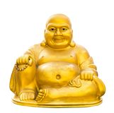 Gold buddha isolated Royalty Free Stock Photo
