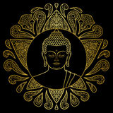 Gold Buddha with Lotus Royalty Free Stock Photography
