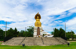 The gold buddha outdoor. royalty free stock image