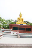 Gold Buddha overview as vertical Stock Photos