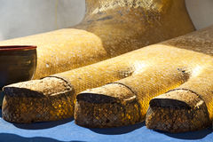 Gold Buddha's Feet Stock Image