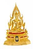 The gold buddha statue. Stock Photo