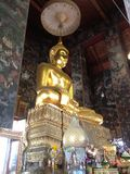 Gold Buddha statue. In church of temple Stock Photography