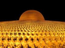 Gold Buddha Statue, Dhammakaya Monument, Thailand Royalty Free Stock Photo