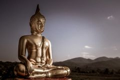 Gold Buddha Statue Stock Photography