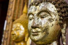 Gold Buddha statue. The old gold Buddha statue Royalty Free Stock Photo
