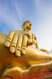 Gold buddha statue at Pattaya Thailand Stock Photo
