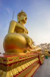 Gold buddha statue at Pattaya Thailand Royalty Free Stock Photo