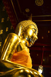 Gold buddha. Statue, Phisanulok in Thailand Royalty Free Stock Image