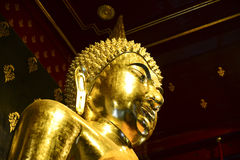 Gold buddha. Statue, Phisanulok in Thailand Stock Image