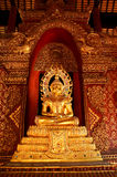Gold Buddha statue. This is a Gold Buddha statue in temple at thailand royalty free stock photography