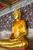 Gold buddha statue. In temple thailand Stock Photography