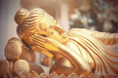 Gold buddha statue in temple of Thailand Stock Photography