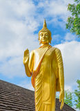 Gold buddha statue in thai temple, Thailand Royalty Free Stock Image