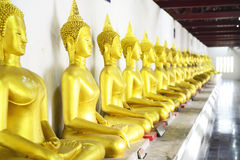Gold buddha. Statue in Thailand Stock Photo