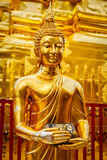 Gold Buddha statue in Wat Phra That Doi Suthep Royalty Free Stock Images