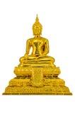 Gold Buddha statue. On white background Stock Images