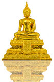 Gold Buddha statue. On white background Royalty Free Stock Images