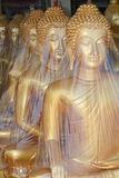Gold Buddha statues, Thailand. Royalty Free Stock Images