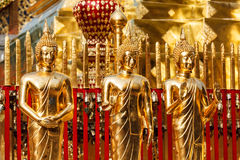 Gold Buddha statues in Wat Phra That Doi Suthep Royalty Free Stock Photo