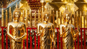 Gold Buddha statues in Wat Phra That Doi Suthep Royalty Free Stock Images