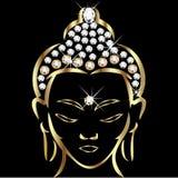 Gold buddha status. With bling diamonds Stock Photography