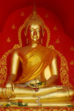 Gold Buddha in the temple Stock Image