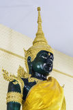 Gold buddha in temple at thailand Stock Photography